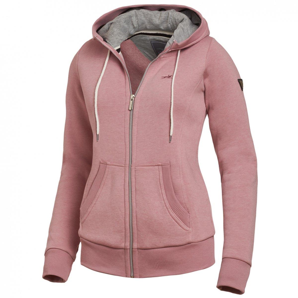 Bluza z kapturem CASSIE damska - Schockemohle - rose melange
