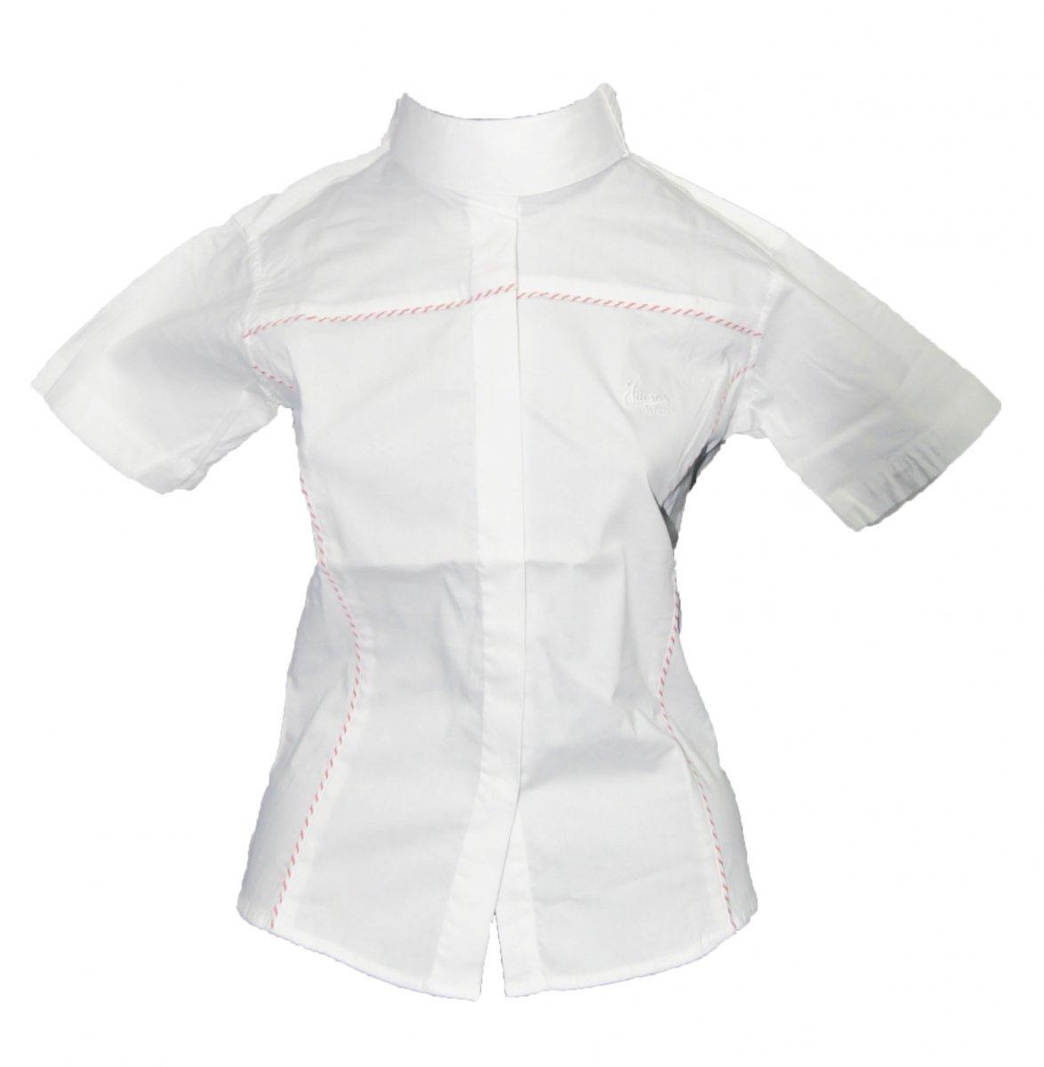 Koszula konkursowa z krótkim rękawem młodzieżowa - Jacson - biały/czerwony