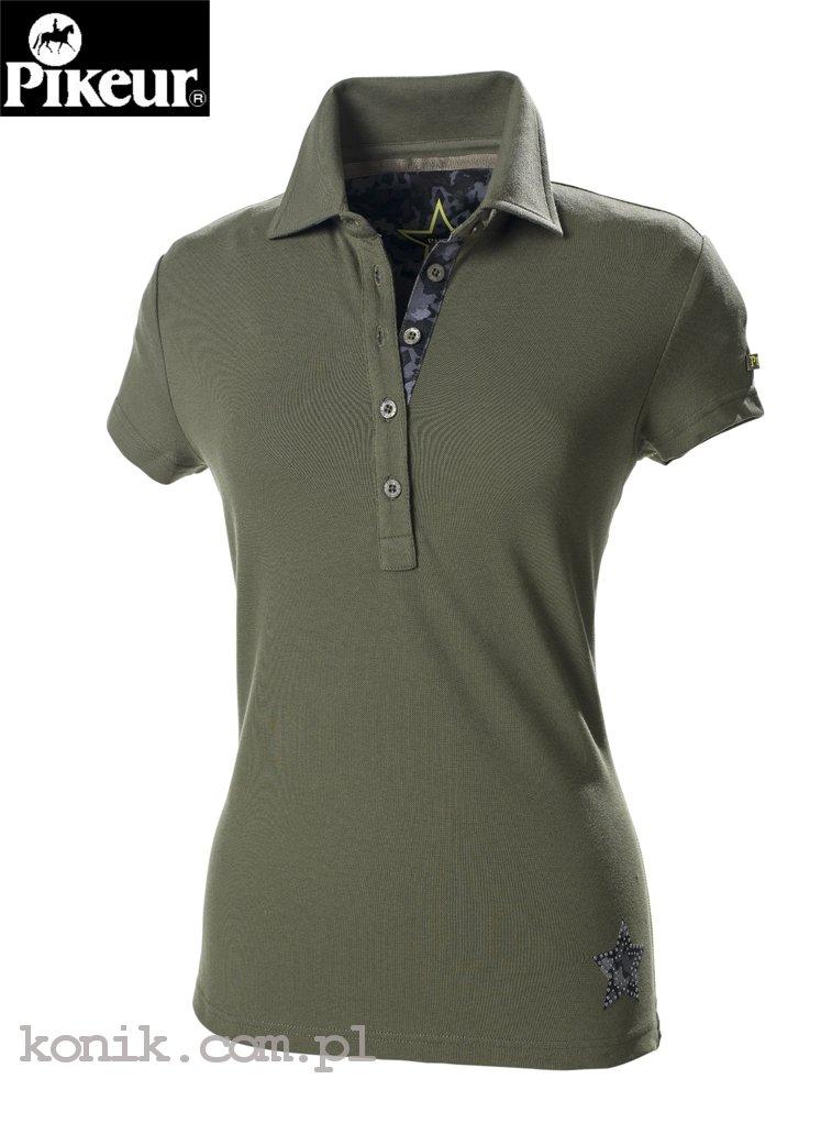 Koszulka polo JOSI - Pikeur - olive - damska