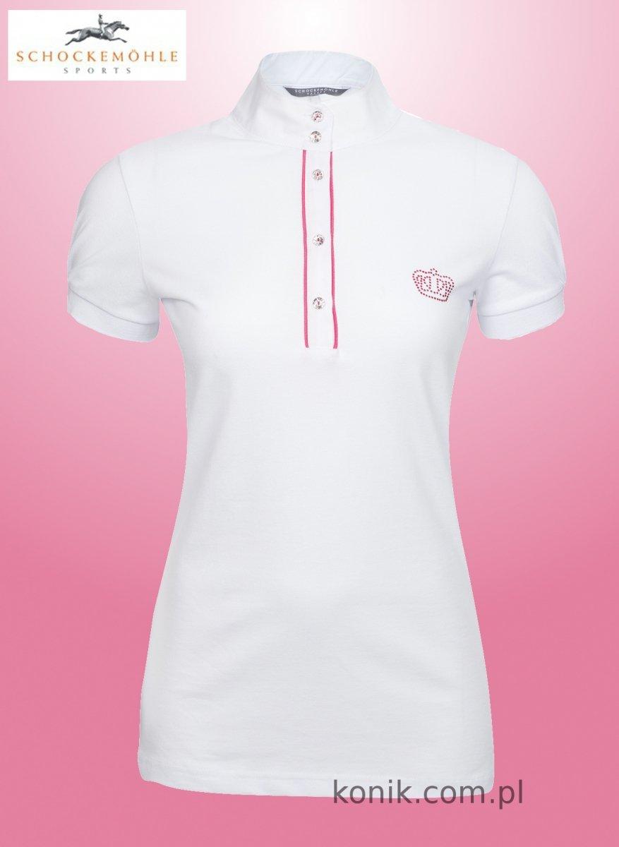 Koszulka konkursowa Schockemohle BELLAMIE - white/orchid