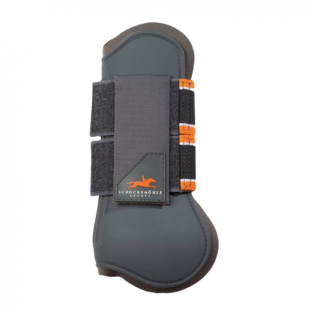Ochraniacze skokowe JUMP GUARDS przód - Schockemohle - grey/orange