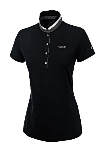 Koszulka polo damska NELE - Pikeur - black - damska