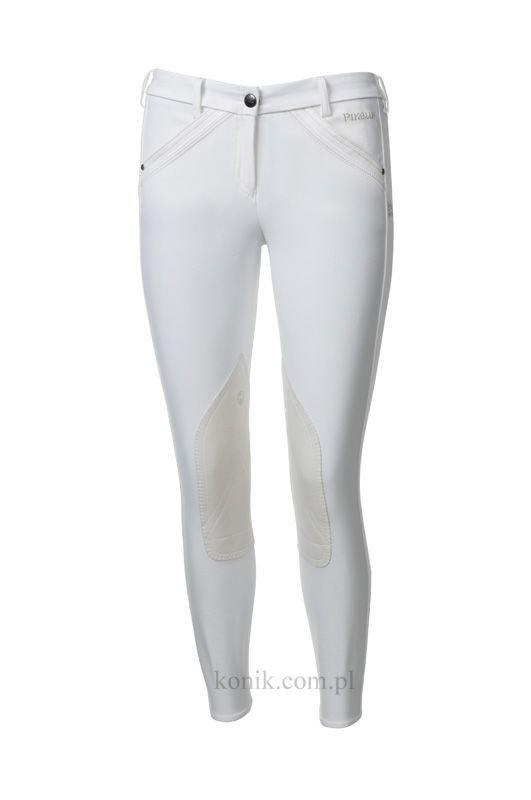 Bryczesy Pikeur MARESA pół lej z kolekcji Premium - białe