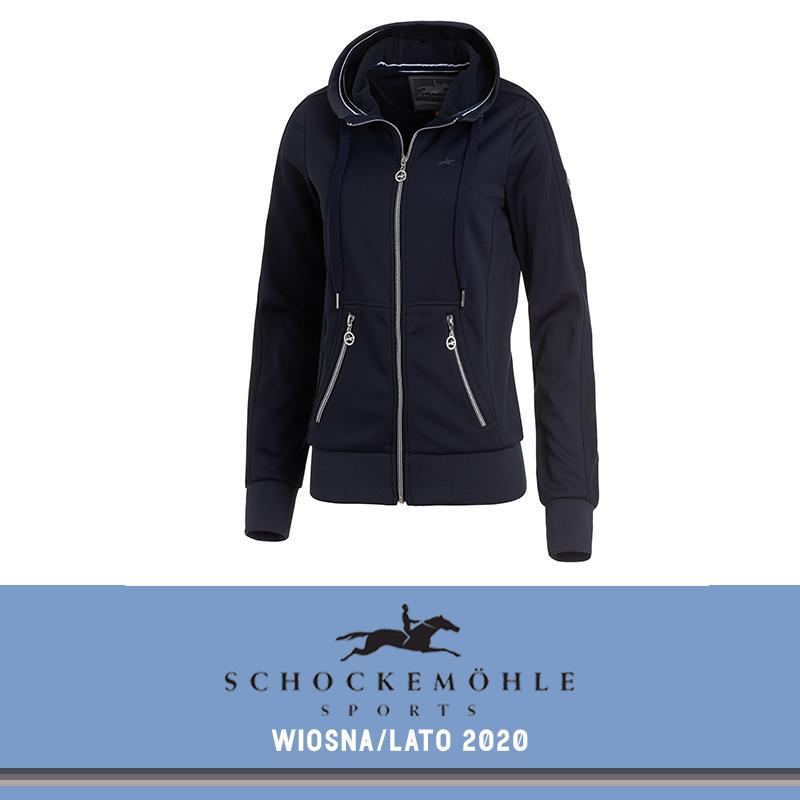 Bluza rozpinana damska CANDY SS20 - Schockemohle - moonlight blue