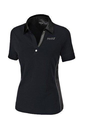 Koszulka polo OXENIA - Pikeur - jet black - damska