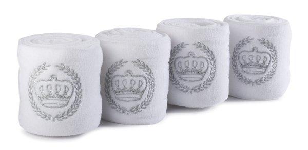 Bandaże polarowe Schockemohle Royal white/lurex
