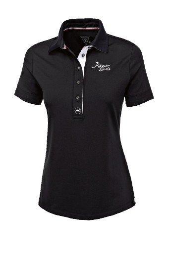 Koszulka funkcyjna polo LAUNA - Pikeur - black - damska