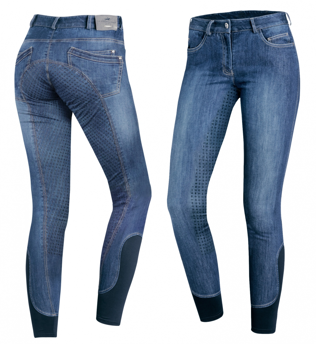 Bryczesy DELPHI damskie - Schockemohle - jeans