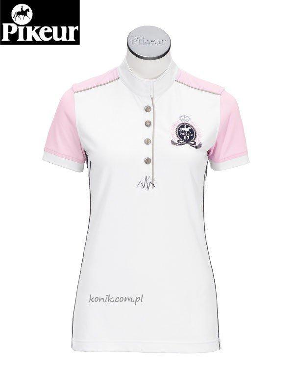 Koszula konkursowa - PIKEUR - biały/róż