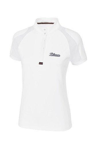 Koszulka konkursowa z siateczką PIKEUR - biała