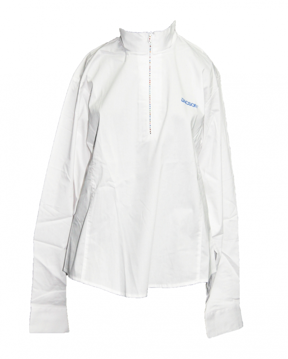 Koszula konkursowa z długim rękawem damska - Jacson - biały