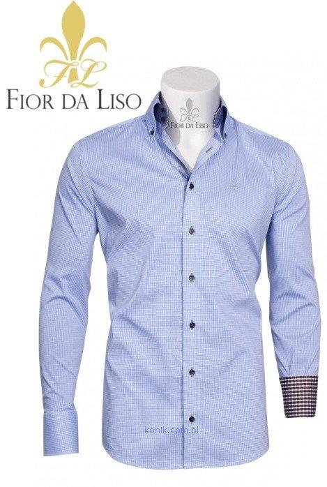 Koszula FLORENZIO II męska - FIOR DA LISO - light blue check