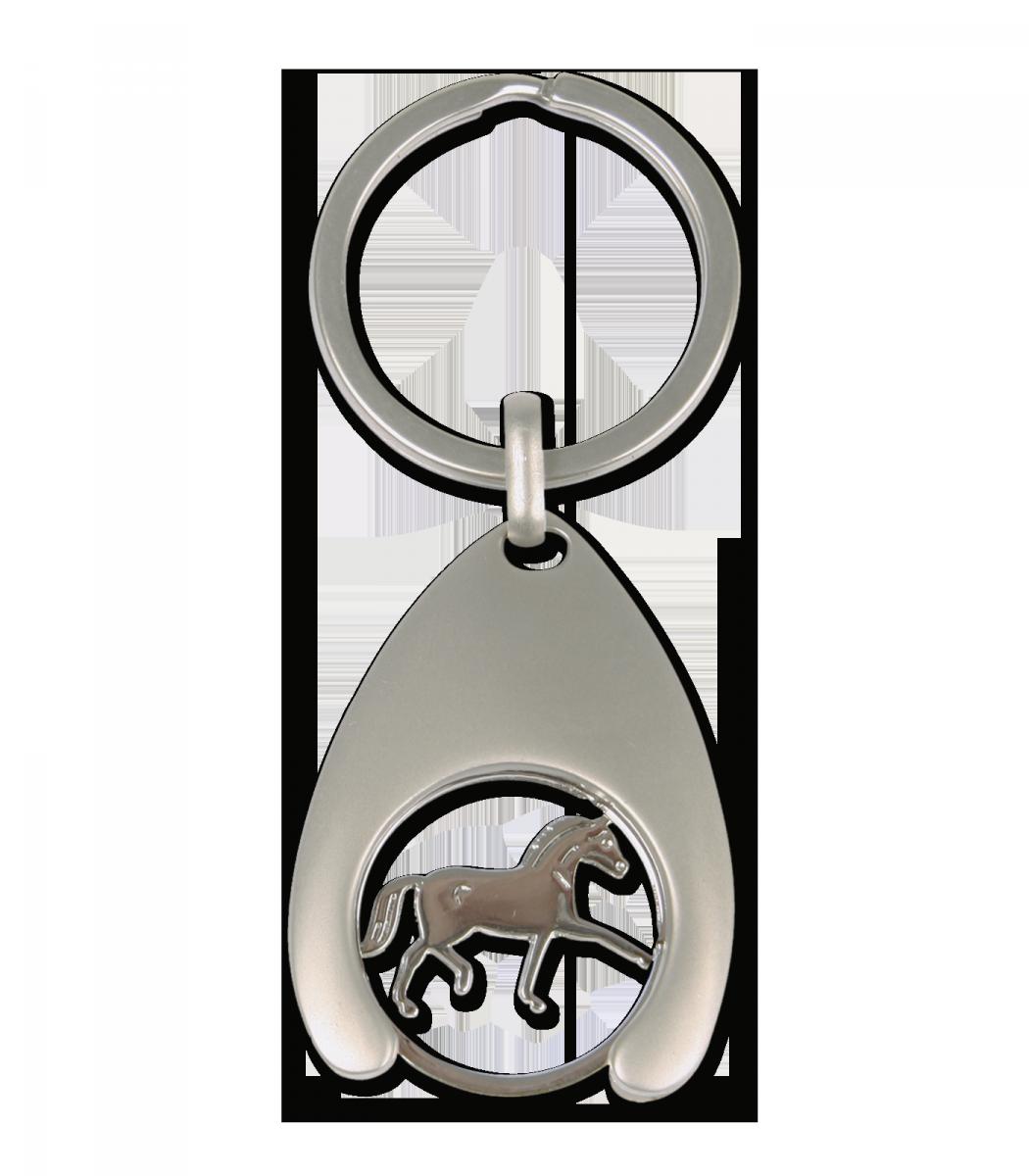 Brelok satynowy z monetą konik - WALDHAUSEN