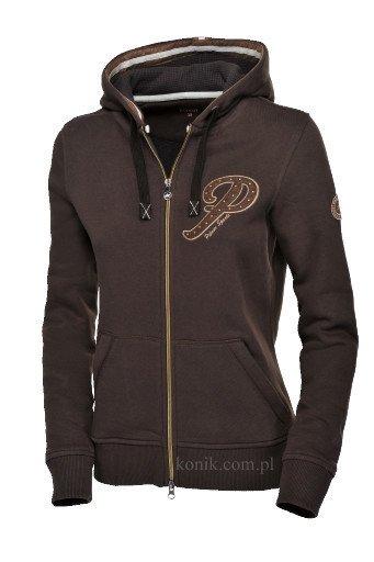 Bluza z kapturem GESA damska - Pikeur - dark brown