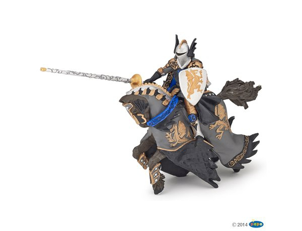 Figurka Czarny Książe na karym koniu - PAPO