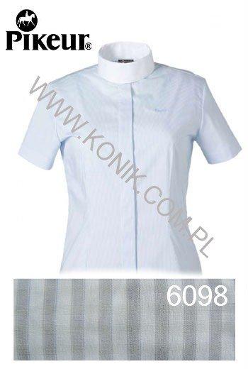 Koszula konkursowa damska - PIKEUR - szare paski