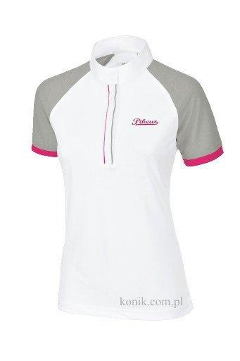 Koszulka konkursowa damska wiosna-lato 2016 PIKEUR - white/grey