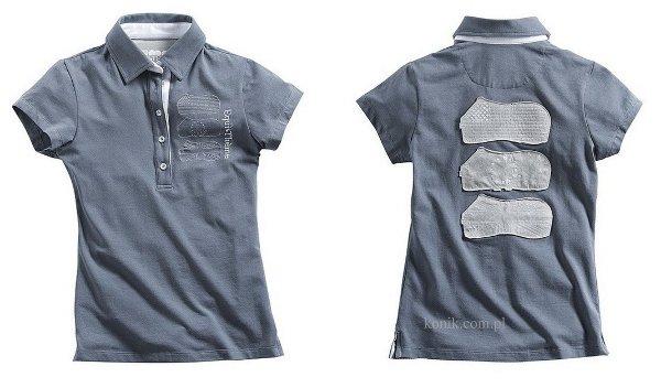 Koszulka polo bawełniana damska - Equi-Theme - china blue