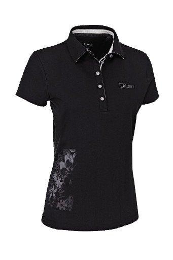 Koszulka polo YVONNE - Pikeur - jet black - damska