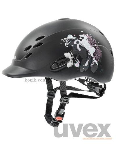 Kask UVEX model ONYX LITTLE PONY - czarny mat