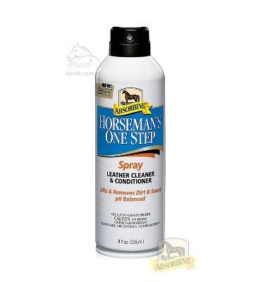 Preparat do czyszczenia i pielęgnacji skóry HORSEMAN'S ONE STEP LEATHER CLEANER AND CONDITIONER 236ml - Absorbine
