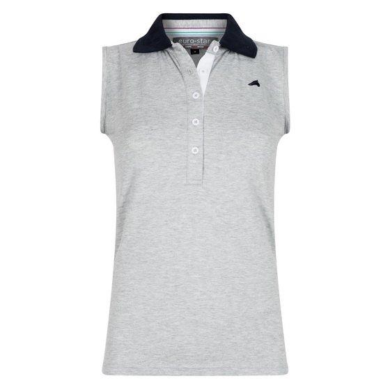Koszulka polo BEAU - Euro-Star - grey melange - damska