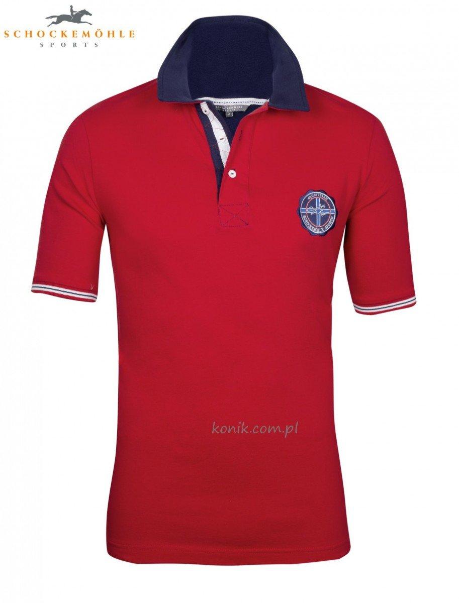 Koszulka JACOB - Schockemohle - chili - męska
