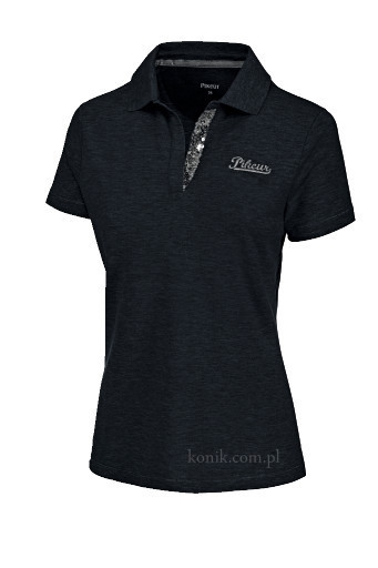 Koszulka polo AGNES - Pikeur - jet black - damska